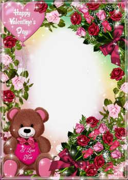 Beschriftung Auf Dem Rahmen: Alles Gute Zum Valentinstag!